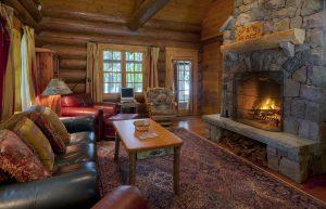 Dry Island | Living Room & Fireplace