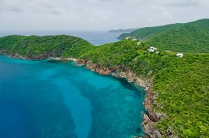 Guana Island | Aerial View of Lodging
