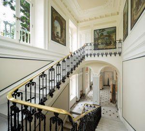 Villa Astor   Staircase and Art